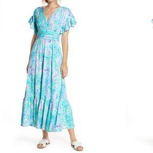 Lilly Pulitzer Flutter Sleeve Maxi Dress